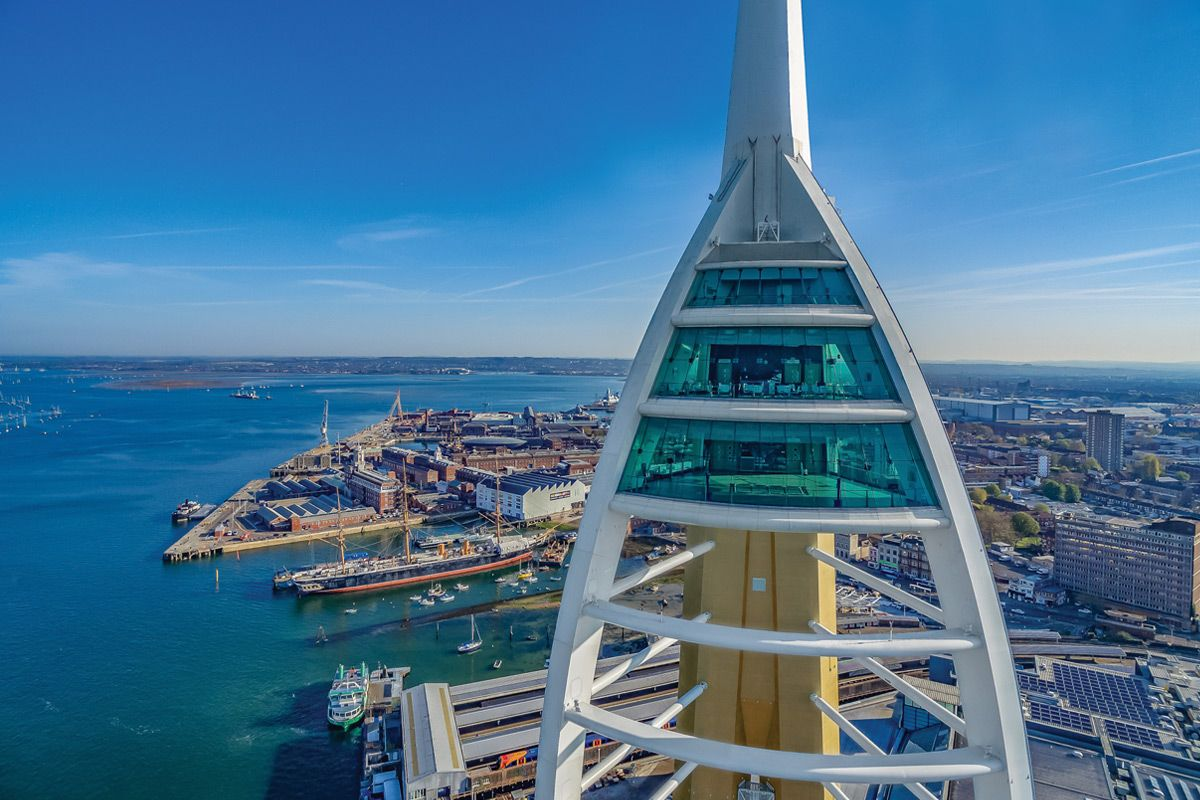 Take in the view of the South Coast of England from the Spinnaker Tower