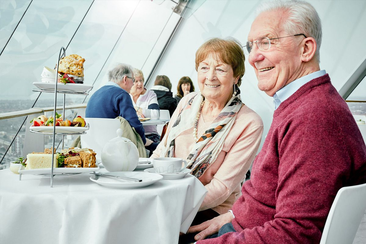 Tuck into Afternoon Tea at The Clouds Cafe, 105 metres above sea level