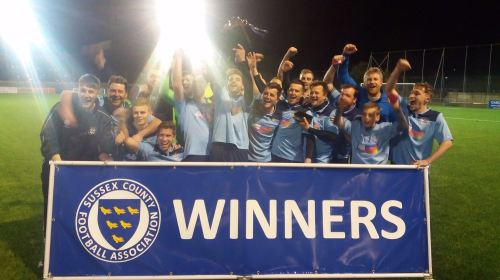 celebration 5 Sussex FA Cup