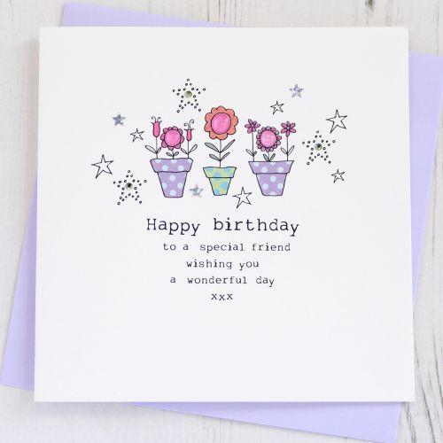 Happy Birthday Flowerpots