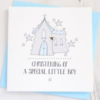 Boy's Sparkling Christening Card