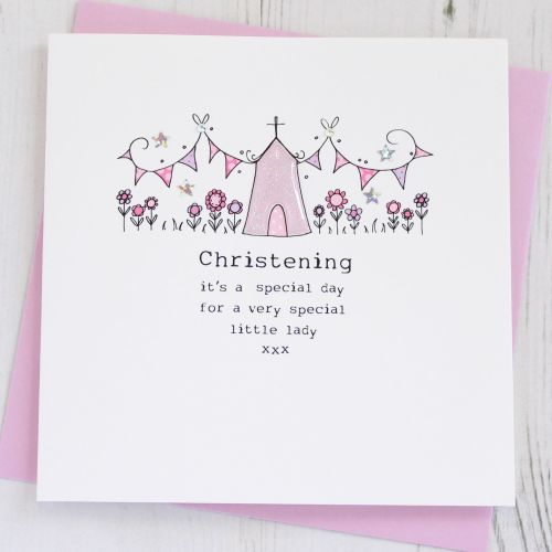 Girl's Christening Card