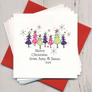 Personalised Christmas Trees Cards