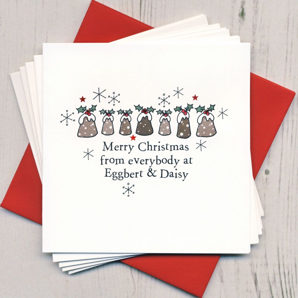 Personalised Christmas Puddings Cards