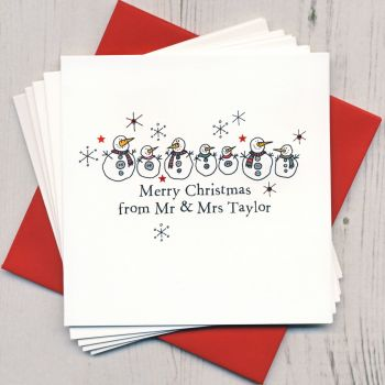 Personalised Snowmen Christmas Cards