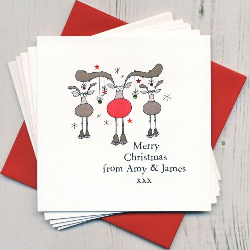 Personalised Rudolph Cards
