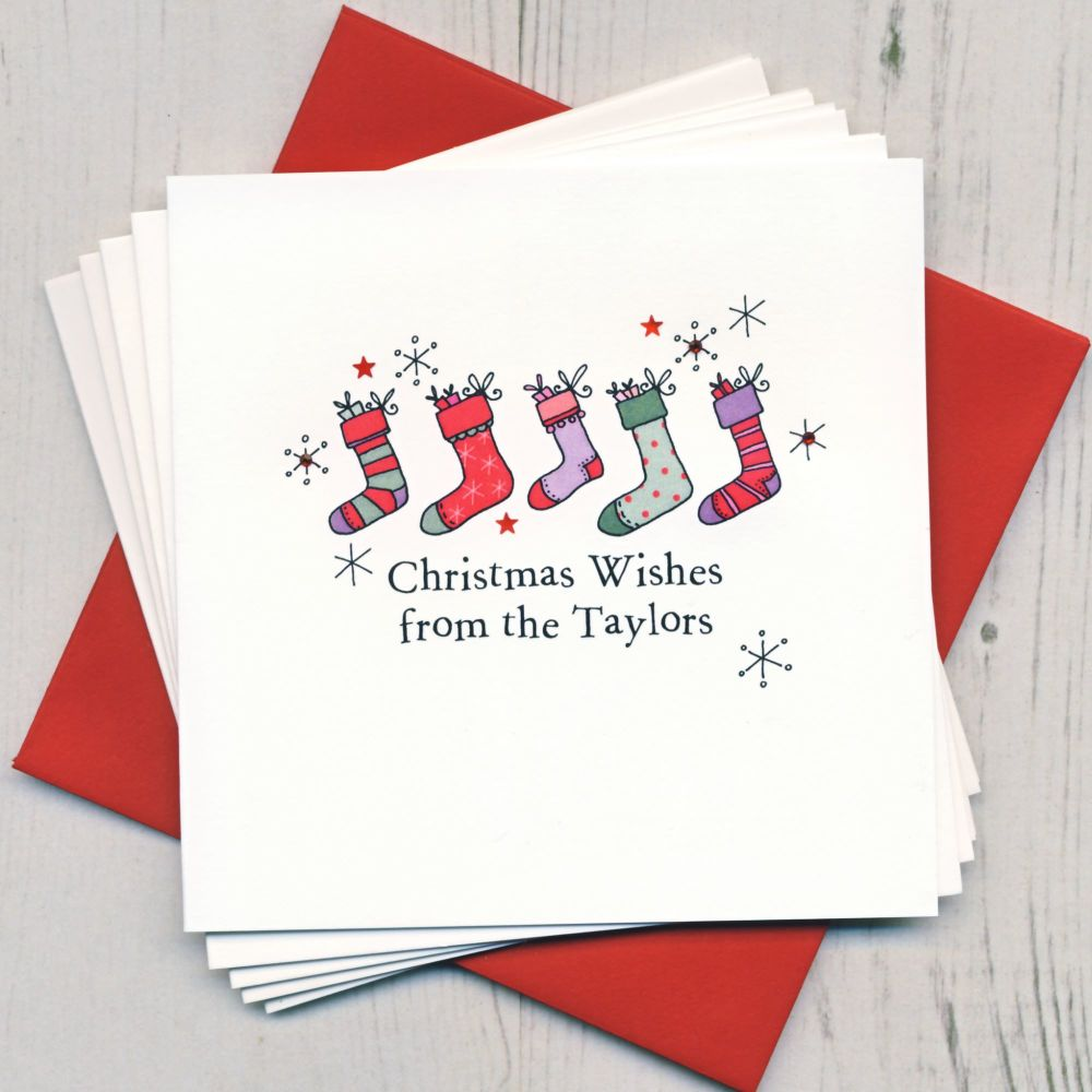 Personalised Christmas Stockings Cards