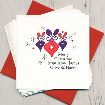Personalised Christmas Bauble Cards