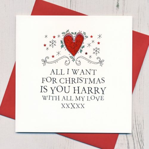 Personalised Loved One's Christmas Card