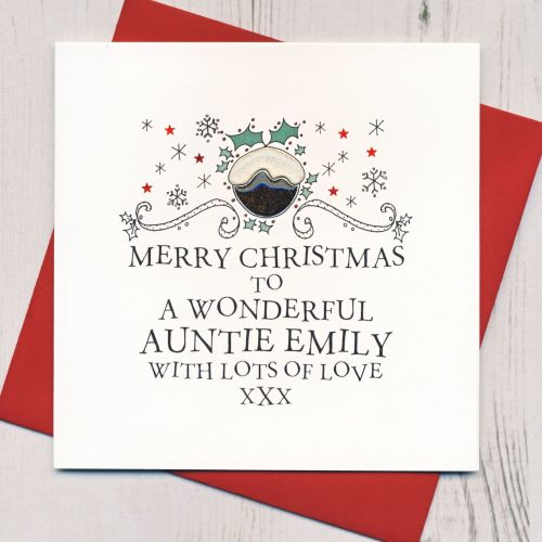 Personalised Pudding Christmas Card