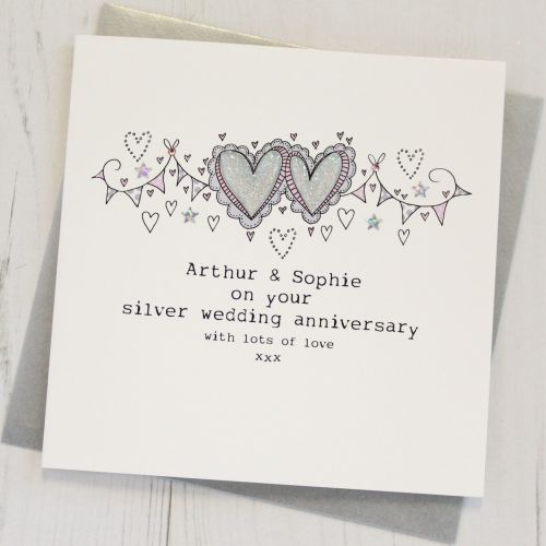 Personalised Happy Silver Wedding Anniversary Card