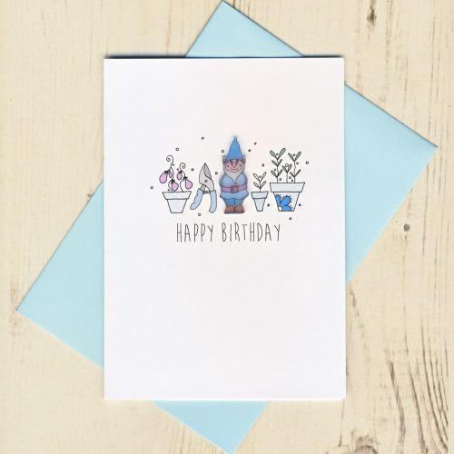 Handmade Gnome Birthday Card