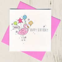 <!-- 021 --> Happy Birthday Flamingo