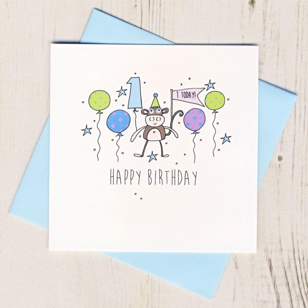 Happy 1st Birthday Monkey