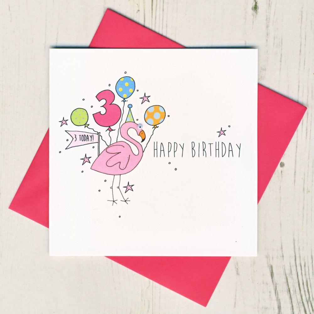 Happy 3rd Birthday Flamingo