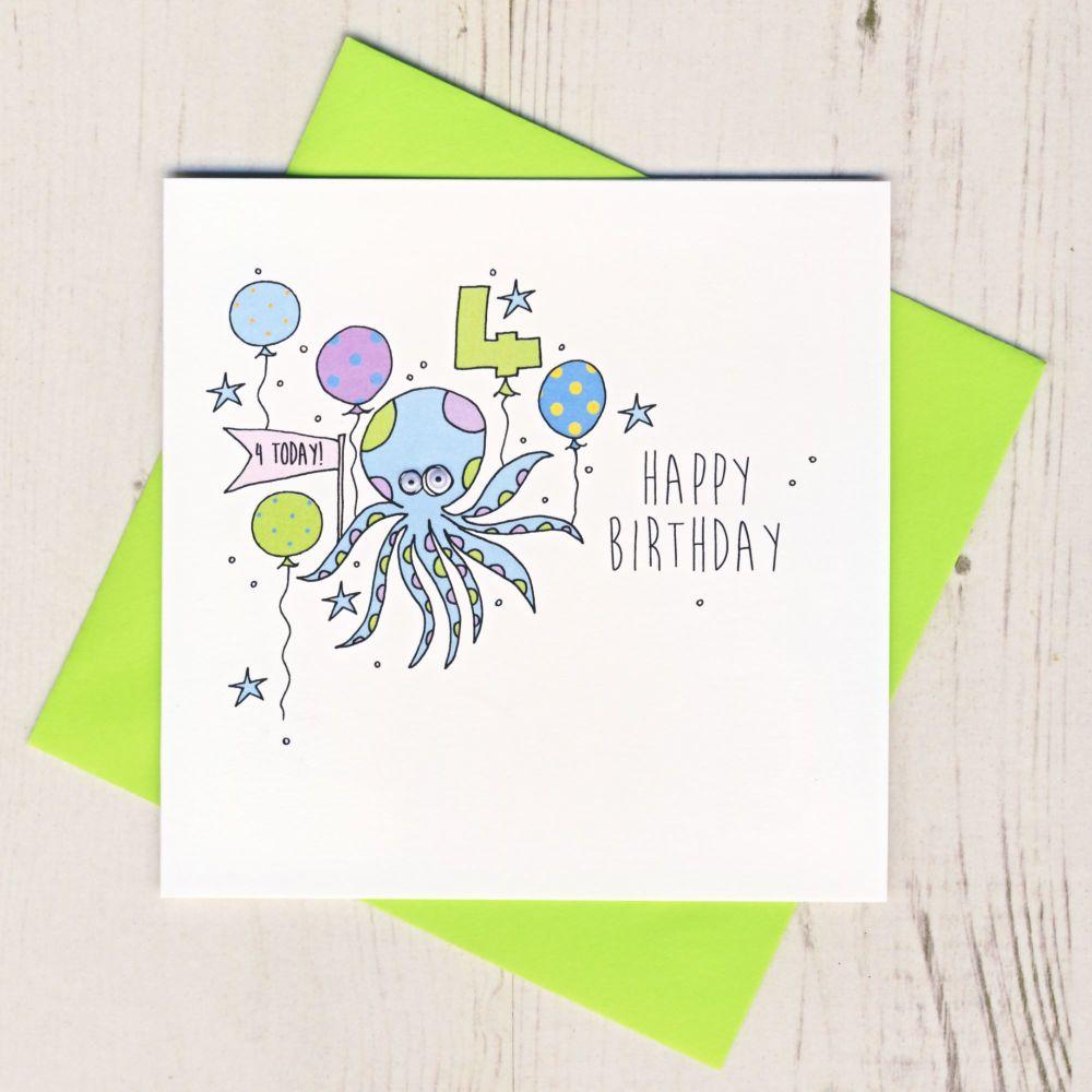 Happy 4th Birthday Octopus