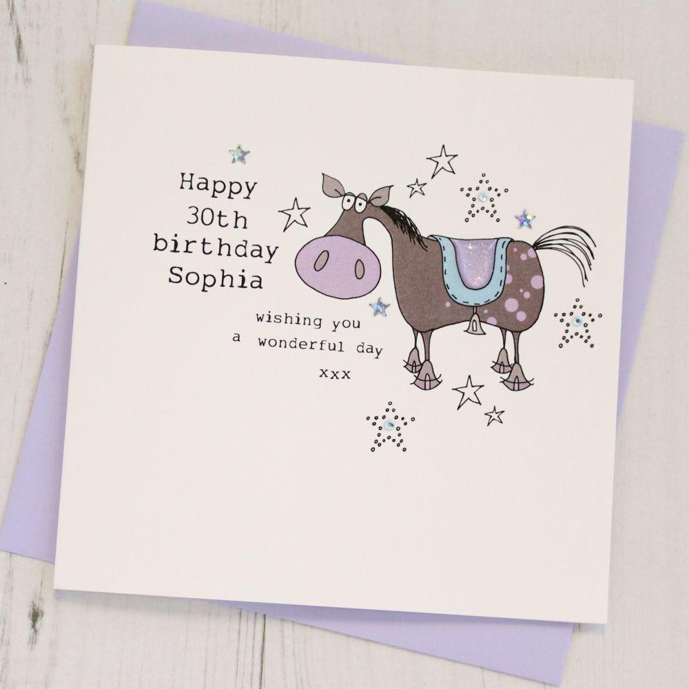 Personalised Horse Happy Birthday