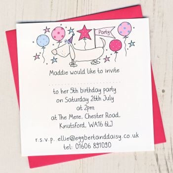 Pack of Dog Party Invitations