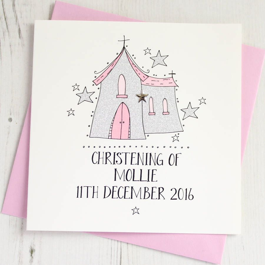 Personalised Girl's Christening Card
