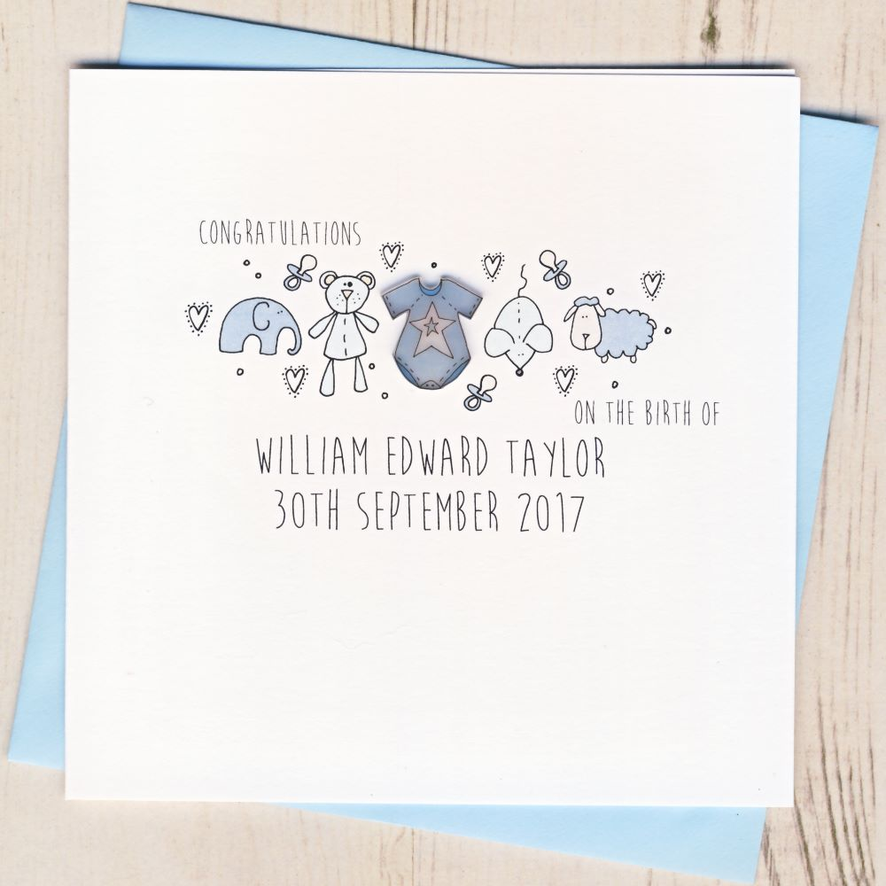 <!-- 003 -->Personalised New Baby Cards