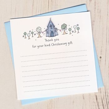 Pack of Boy's Christening Thank You Cards