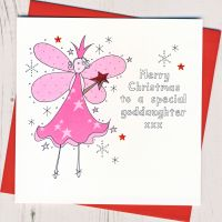 To A Special Goddaughter Christmas Card