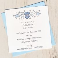 <!-- 001 -->Pack of Baby Boy Birth Announcement Cards