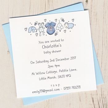 Pack of Baby Boy Birth Announcement Cards