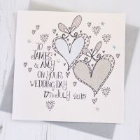 <!-- 021 -->Personalised Wedding Hearts Card