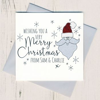 Personalised Glittery Santa Cards