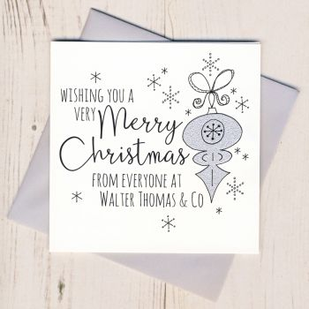Personalised Glittery Bauble Christmas Cards