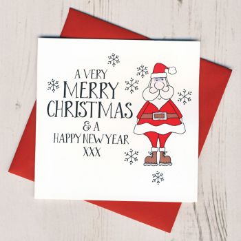 Wobbly Eyes Santa Card