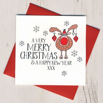 Wobbly Eyes Rudolph Card