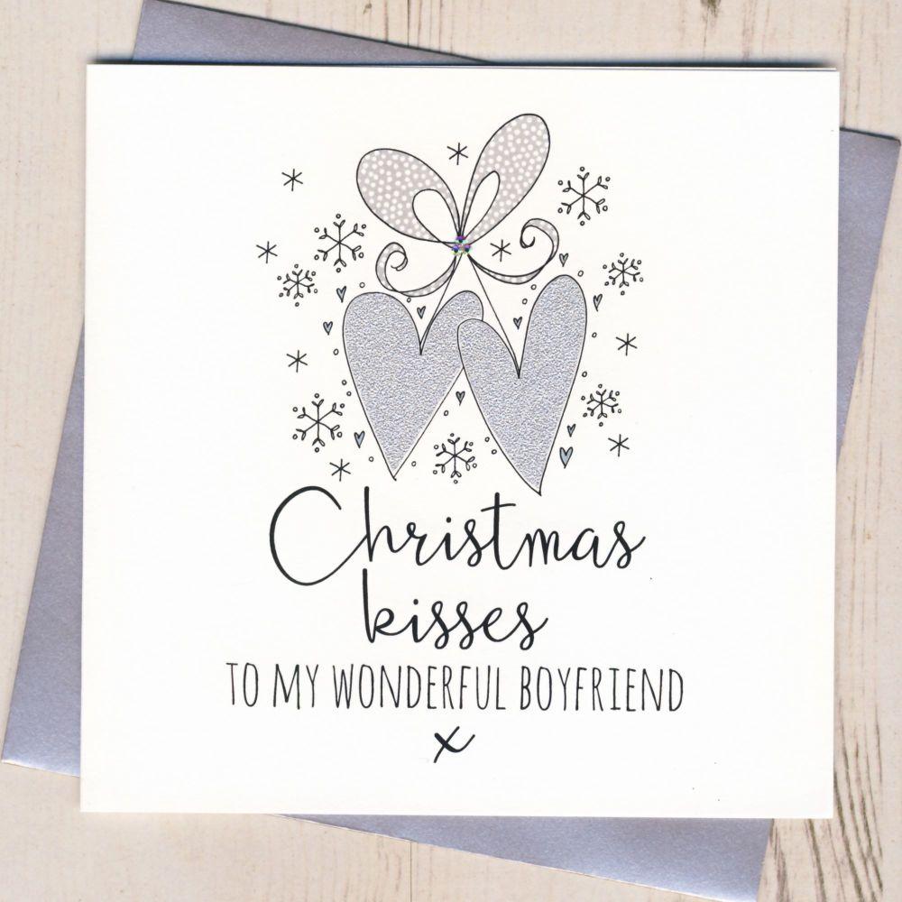 Glittery Boyfriend Christmas Card