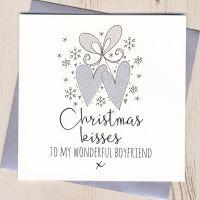 <!-- 002 -->Glittery Boyfriend Christmas Card