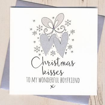 Glittery Boyfriend Christmas Card