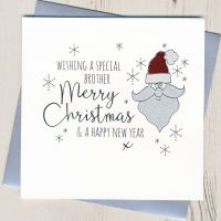 <!-- 001 -->Glittery Brother Christmas Card