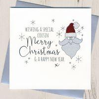 Glittery Cousin Christmas Card
