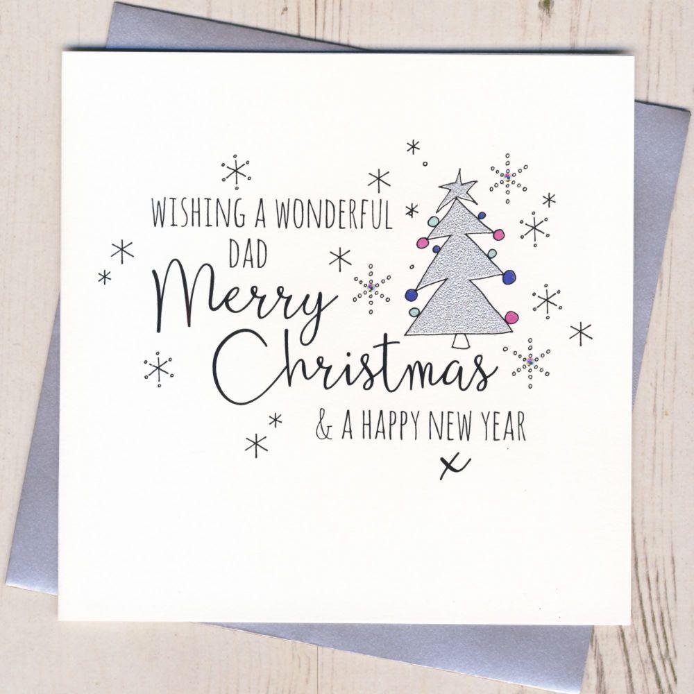 Glittery Dad Christmas Card