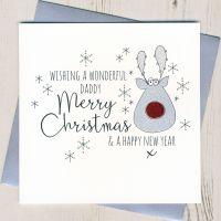 Glittery Daddy Christmas Card