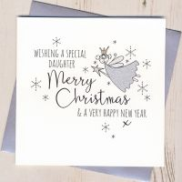 <!-- 001 -->Glittery Daughter Christmas Card