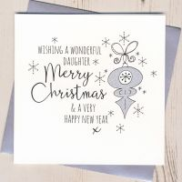 <!-- 002 -->Glittery Daughter Christmas Card
