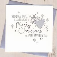 <!-- 002-->Glittery Granddaughter Christmas Card