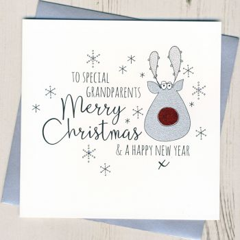 Glittery Grandparents Christmas Card