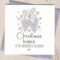 Glittery Husband Christmas Card