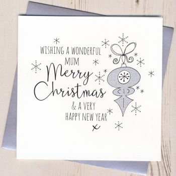 Glittery Mum Christmas Card