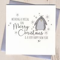 <!-- 002 -->Glittery Son Christmas Card