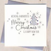 <!-- 002 -->Glittery Son Christmas Card