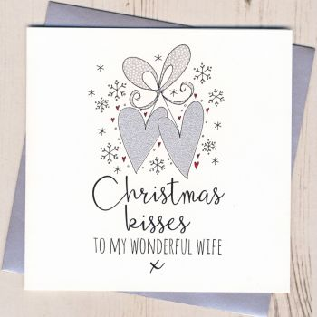 Glittery Wife Christmas Card
