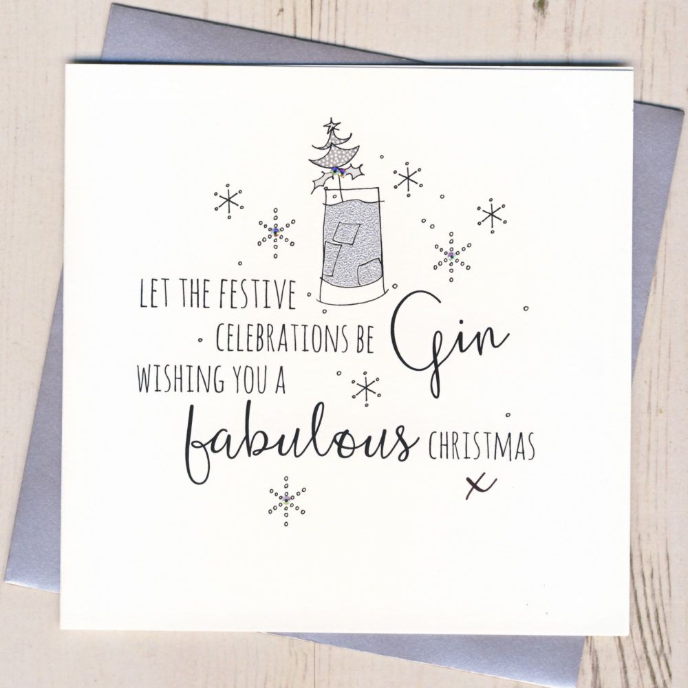 Glittery Let the Celebrations Be-Gin